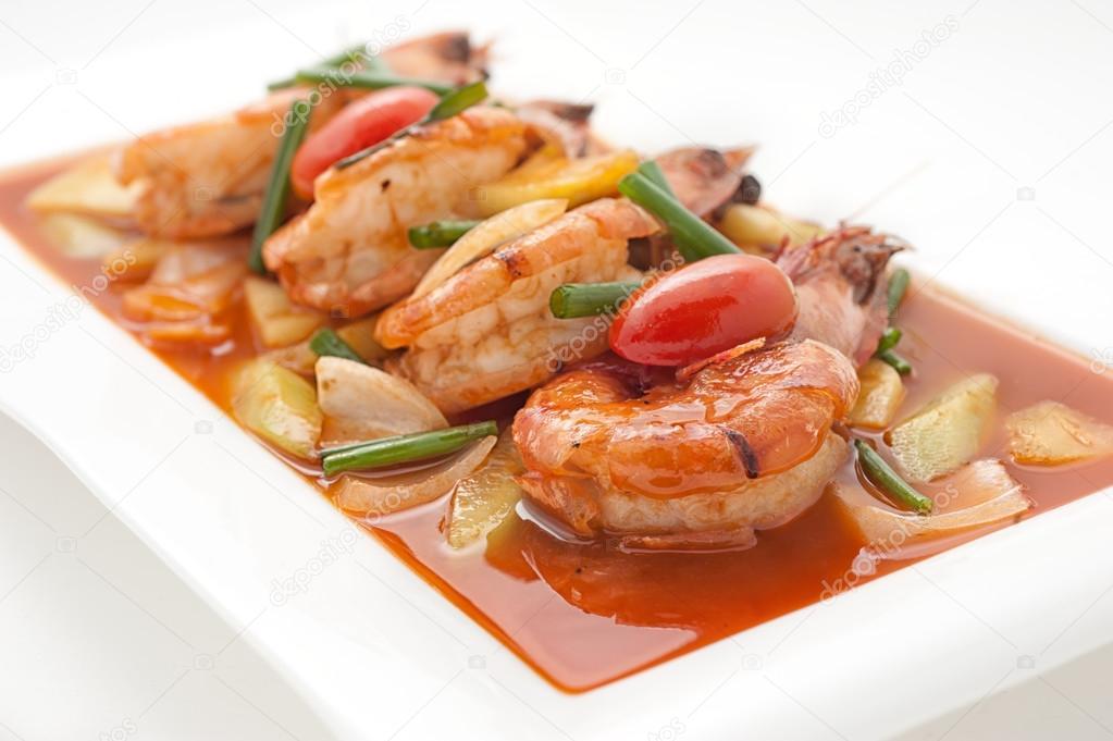 Platos de cocina gourmet internacional foto de stock for Platos de cocina