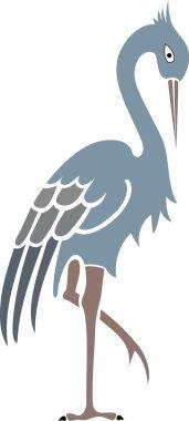 Heron with crest