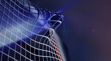 Puck in net of  hockey goal