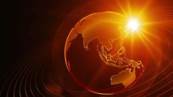 Otáčející se zeměkouli planety Země