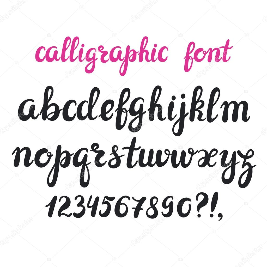 Hand Drawn Brush Pen Calligraphy Cursive Font Modern Alphabet Isolated Letters On White Vector By Natality