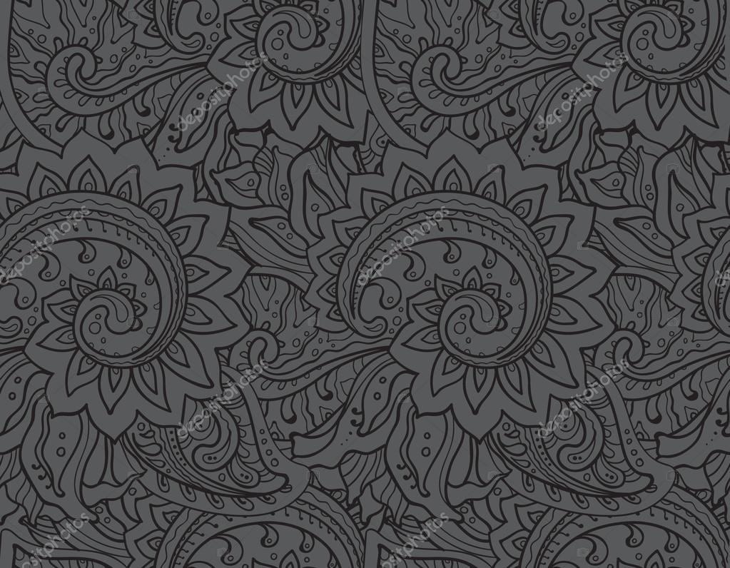 Seamless vector pattern with traditional oriental ornament
