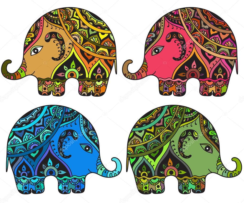 Imágenes Elefantes Indios Elefantes Estilizada Fantasía Con