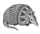 Fotografie Armadillo hand drawn vector illustration