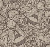 Fényképek Folytonos vector patternn méh, virágok, bogyók