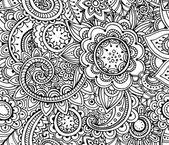 Květinový vzor bezešvé jednobarevné vektor.