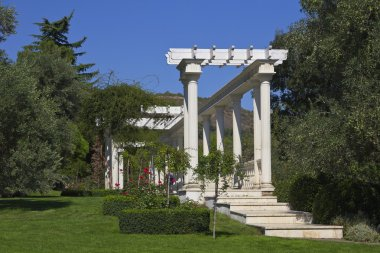 Pergola  in a Park Aivazovsky.Paradise Park. Partenit.