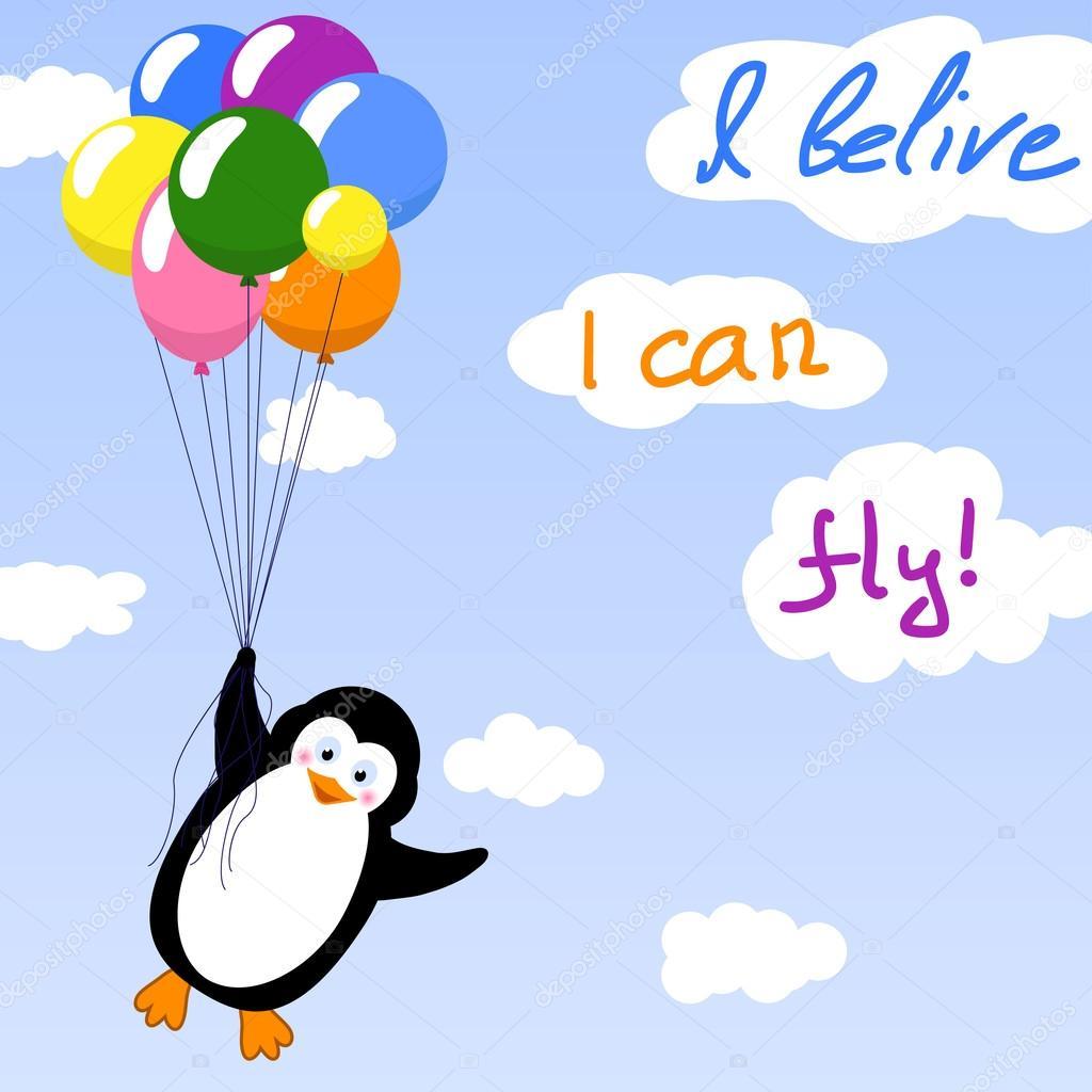 пингвин с шариком картинка дает покоя, разбивая