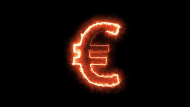 Euro sestávající z ohnivých linií