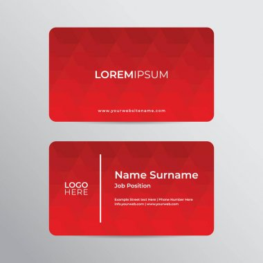 Modern Business Card Design professional and corporate template icon