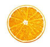 polovina šťavnatý pomeranč na bílém pozadí