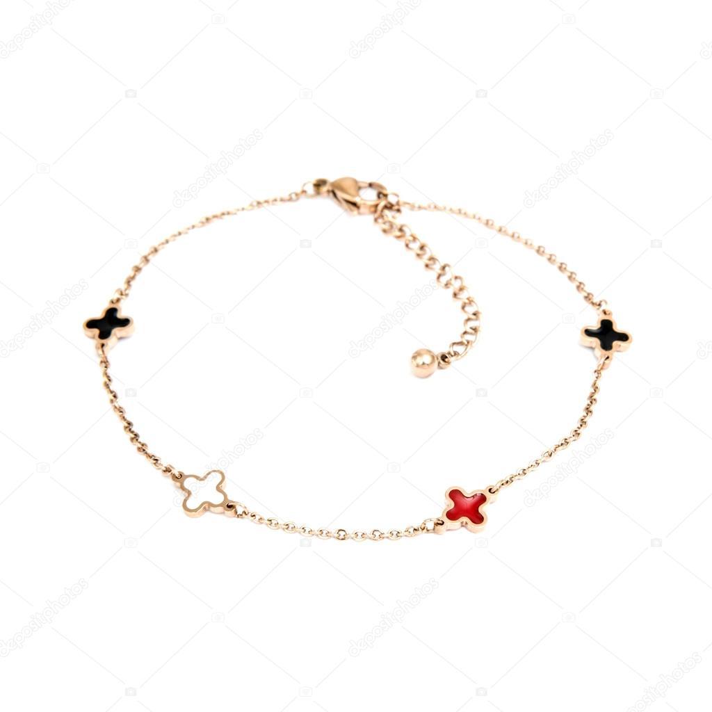 1fb719fccbb1 Pulsera de moda oro aislado en blanco — Fotos de Stock © Art of Life ...