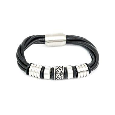 Fashion male bracelet isolated on white