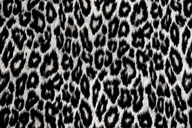 Black and white leopard, jaguar, lynx skin background