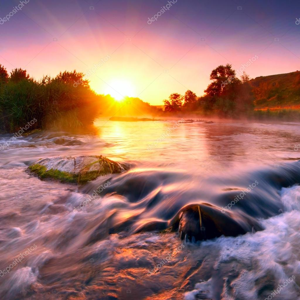 Фотообои Misty morning on a river