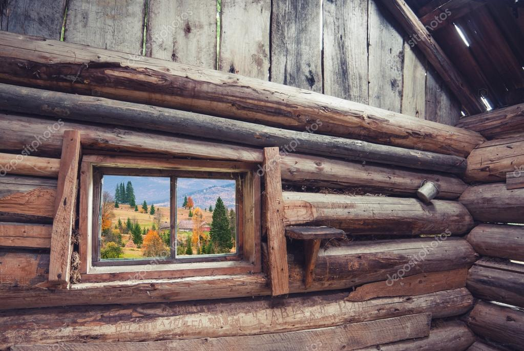 View from wooden house