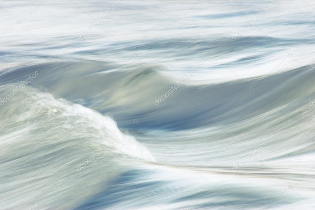 Waves of the river flow