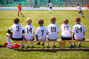 Football soccer match for children
