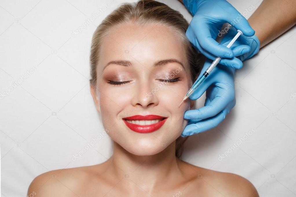 Attractive woman at plastic surgery