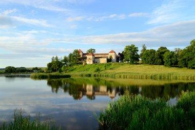 SVIRZH, UKRAINE - JUNE 18 ancient castle Svirzh