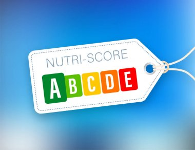Nutri score for packaging design. Logo, icon, label. Vector stock illustration icon