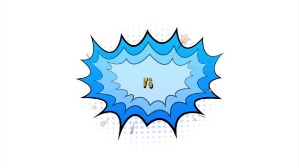 Küzdelem képregény buborék kifejezés szöveges VS vagy versus. Készletillusztráció.
