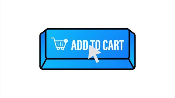Přidat do košíku ikonu. Ikona nákupního košíku. stock ilustrace.