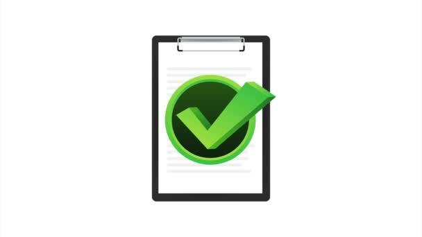 Zwischenablage mit Checklisten-Symbol. Zwischenablage mit Checklisten-Symbol für das Web. Illustration.