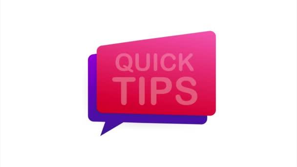 Ikona rychlých tipů. Připraveno k použití ve webovém nebo tiskovém designu. stock ilustrace.