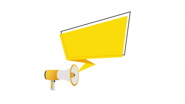 Megaphone Hand, business concept with text We want you. stock illustration.