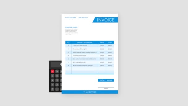 Business card with invoice. Customer service concept. Online payment. Tax payment. invoice template. stock illustration.