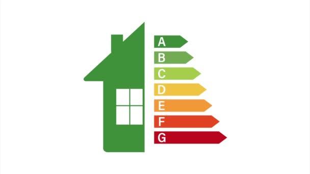Energieeffizienzdiagramm und Hauskonzept. Home Icon. Solarenergie. Grüne Heimat. Aktienillustration.