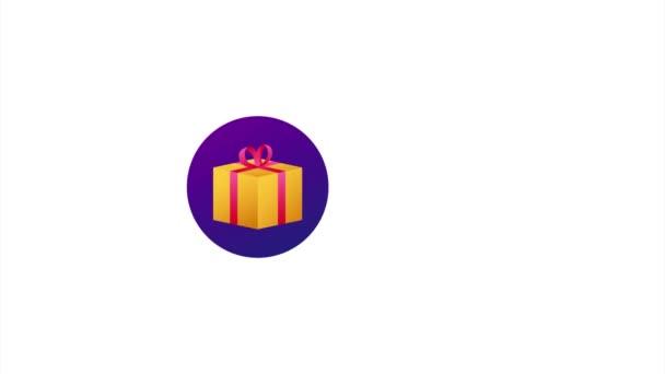 Obchodní šablona s červeným dárkem zdarma na bílém pozadí pro banner design. obchodní šablona. Současná ikona dárkové krabice.