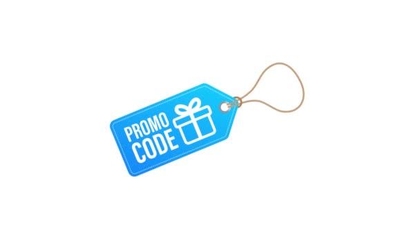 Promo kód. Dárkový poukaz s kupónovým kódem. Premium eGift Card Pozadí pro e-commerce, Online nakupování. Marketing. Pohybová grafika.