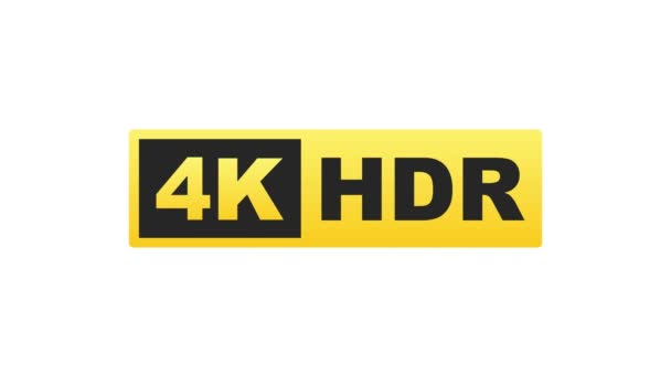 4K Ultra HD label. High technology. LED television display. Motion graphics.
