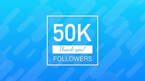 50 Ribu Pengikut Terima Kasih Situs Sosial Posting Terima Kasih Para Pengikut Kartu Ucapan Selamat Grafis Gerak Stok Video C Appleboy 458421386
