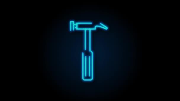 Umrisse von Web-Symbolen gesetzt. Bau-und home-reparatur-werkzeuge, bau. Arbeitssicherheit. Bewegungsgrafik.