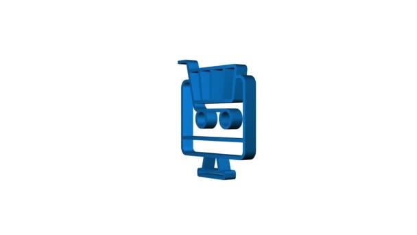 Ikona nákupní sady pro webdesign. E-commerce. Slevový kupón. Obchodní ikona. Cenovka. Pohybová grafika