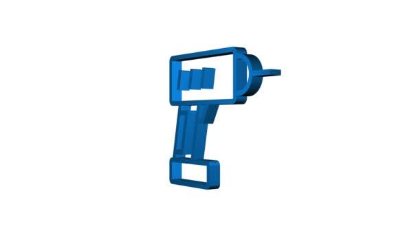 Obrys webových ikon nastaven. Stavební a domácí opravárenské nástroje, budova. Bezpečnost práce. Pohybová grafika
