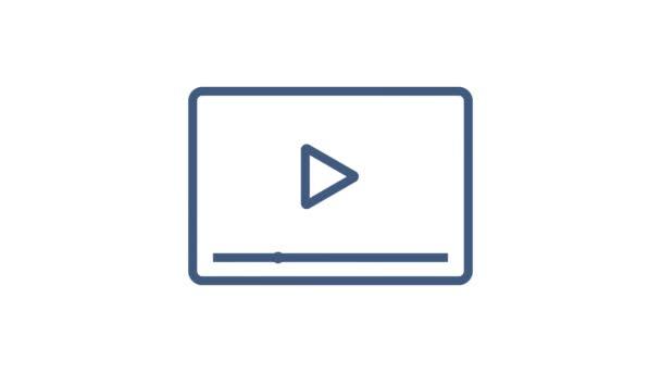 Web-Icon gesetzt. Unternehmen. E-Mail-Symbol. Video chat. Bewegungsgrafik.