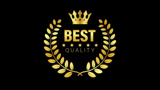 Nejlepší kvalita Zlatý znak s vavřínem. Pohybová grafika.