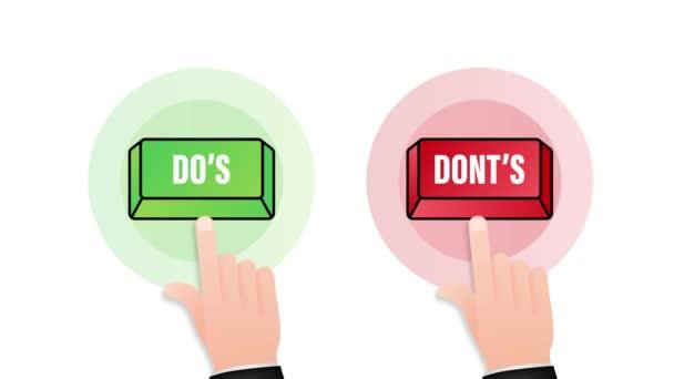 Tlačítko Do a Don s. Jednoduchý symbol palce nahoru, minimální kulatý logotyp. Pohybová grafika
