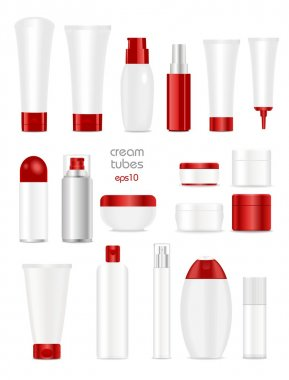 Blank cosmetic tubes