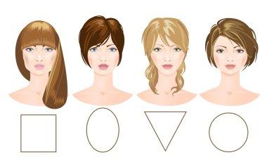 Different women's faces.