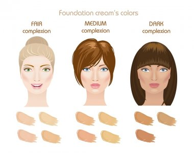 Foundation creams colors