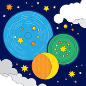 firmament of planets and stars.