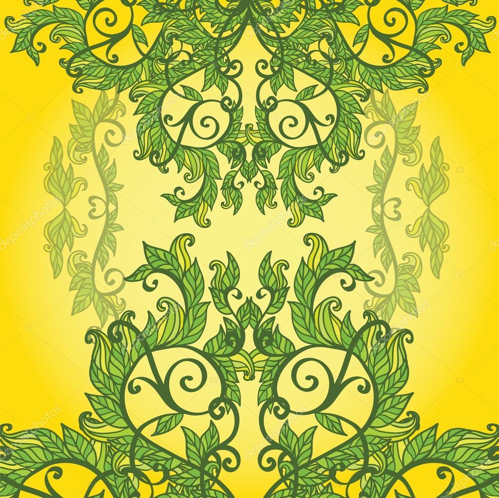 Corazón de hojas de color verde primavera — Archivo Imágenes ...