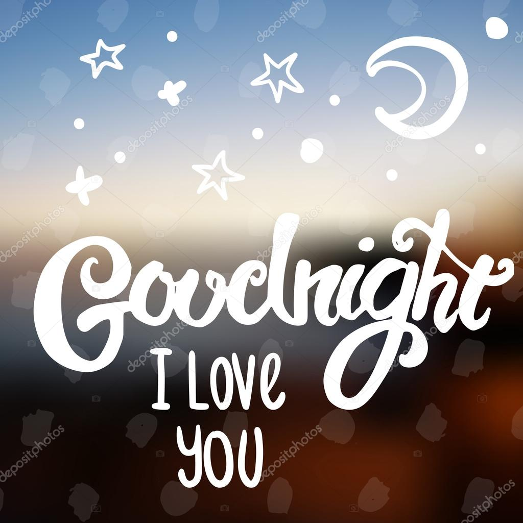 Goodnight I Love You Stock Vector Marialetta 96336366