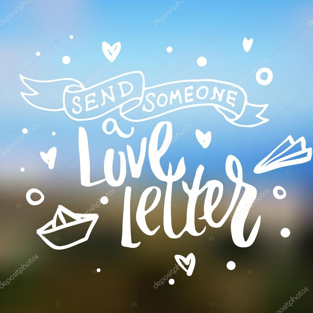 Jemanden schicken Liebesbrief — Stockvektor © Maria_Letta #96336368