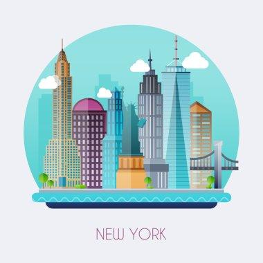 New York. Landscape of buildings